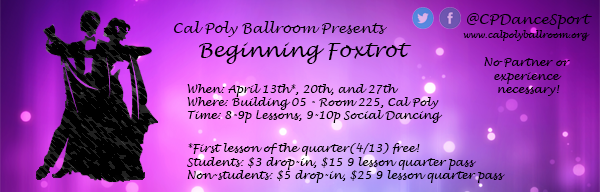 Beginning Foxtrot Lessons (4/13,4/20,4/27)
